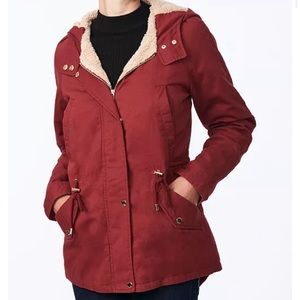 Red NWT collection B Anorak jacket